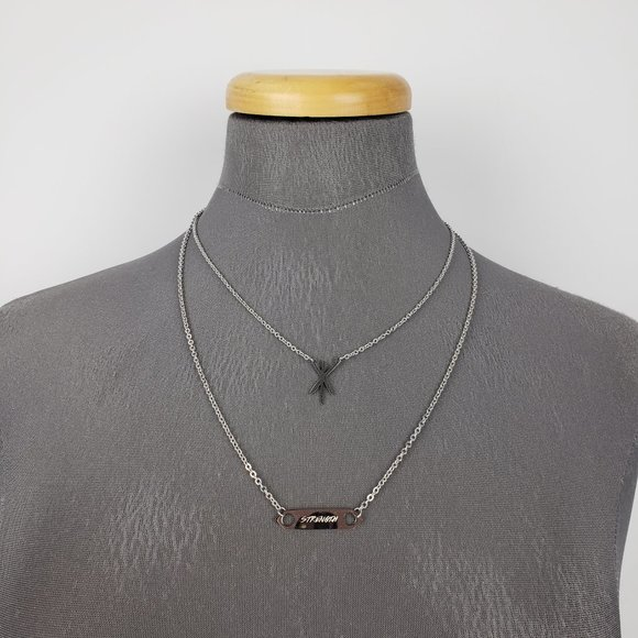 Silver Strength Layered Necklace